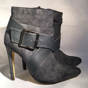 MICHEAL ANTONIO Boots.  Worn Once.  5 1/2. Gray